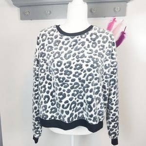 L | Juicy Couture Snow Leopard Teddy Bear Sweater